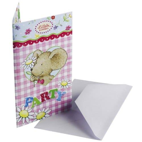 Einladungen einladungskarten mit umschlag lillebi for Party deko shop
