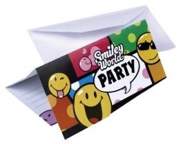"""Einladungen: Einladungskarten mit Umschlag, """"Smiley World"""" Comic, 6er-Pack - 1"""