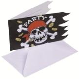 Einladungskarte: Karte mit Motiv Jolly Roger, 6er-Pack - 1