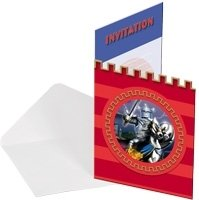 "Einladungskarte, Motiv ""Silberner Ritter"", 8er-Pack - 1"