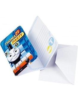 Einladungskarten mit der Lokomotive Thomas, 6er-Pack - 1