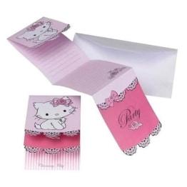 Einladungskarten Mit Umschlag, Hello Kitty/Charmmy Kitty, 6 Stück   1