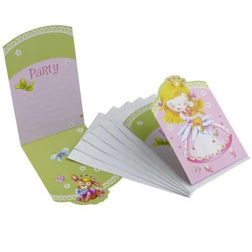 Einladungskarten mit umschlag kleine prinzessin 6 for Party deko shop