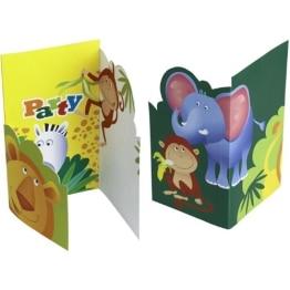 Einladungskarten, mit Umschlag, Safari-Serie, 6 Stück - 1