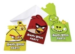 "Einladungskarten, Motiv ""Angry Birds"", 6 Stück - 1"