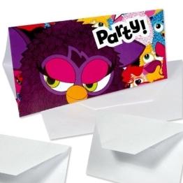 """Einladungskarten, Motiv """"Furby"""", 6 Stück - 1"""