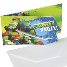 "Einladungskarten, Motiv ""Teenage Mutant Ninja Turtles"", 6 Stück - 1"