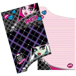 Einladungskarten, Motive aus Monster High, 6er-Pack - 1