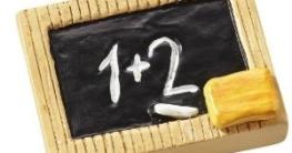 Einschulung: Tischdeko, Schultafel, Kunststein, 4 x 3 cm - 1