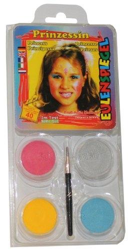 Eulenspiegel Schmink-Set: Schminke, Farben für eine Prinzessin - 1