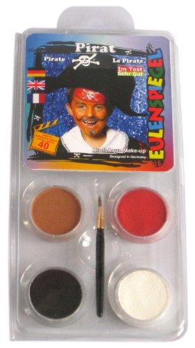 Eulenspiegel Schmink-Set: Schminke, Farben für einen Piraten - 1