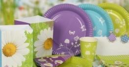 Fackel: Mini-Fackel Daisy, Punkte, verschiedene Farben, 25 cm, 3er-Pack - 2