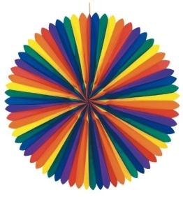 Fächer: Dekofächer, Regenbogenfarben, 120 cm - 1