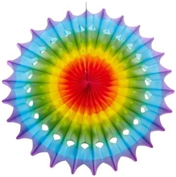 F cher partyf cher regenbogenfarben bunt 50 cm party for Mexikanische dekoration
