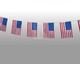 Fahnenkette: 15 kleine USA-Fahnen, 4 m - 1