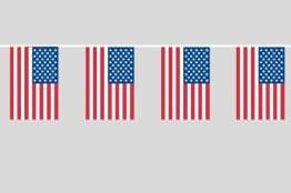 Fahnenkette, USA-Fähnchen, 10 m - 1