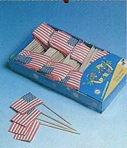 Flaggen-Picker: USA, 80 mm, 200er-Pack - 1