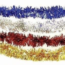 Foliengirlande: silberne Fransen-Girlande, Metallic-Folie, 3 m - 1