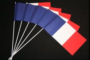 Frankreich-Fahne: Papierfähnchen, 50er-Pack - 1