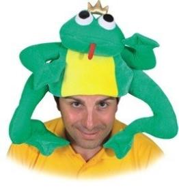Froschkönig-Kostüm: Mütze mit Froschkönig, Einheitsgröße - 1