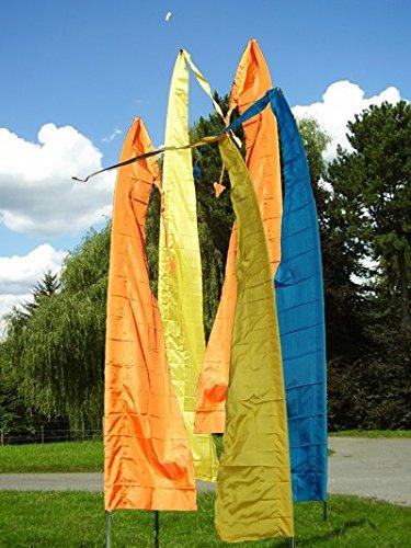 Gartenfahne gelb 4 Meter, Asienfahnen Umbul Umbul, F403 - 2