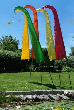 Gartenfahne gelb 4 Meter, Asienfahnen Umbul Umbul, F403 - 4