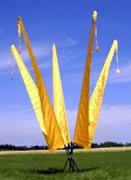 Gartenfahne goldgelb 6 Meter, F602 - 1