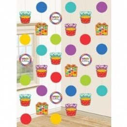"Geburtstag: Deckenhänger, ""Dots & Stripes"", 210 cm, 6er-Pack - 1"