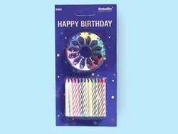 Geburtstagskerzen, 24er-Päckchen mit Haltern - 1