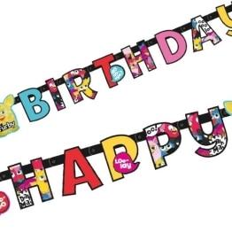 """Geburtstagskette: Partykette, """"Furby"""" mit Schriftzug """"Happy Birthday"""" - 1"""