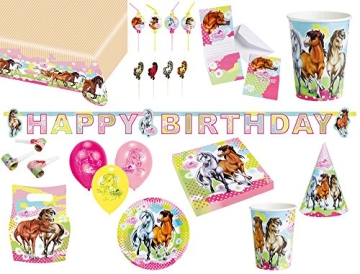 """Geburtstagskette: Partykette, """"Pferdehof"""", Schriftzug Happy Birthday, 180 x 15 cm - 2"""