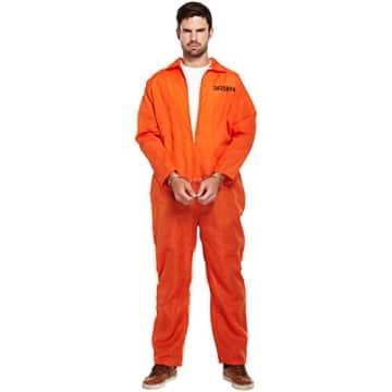 Gefangener-Kostüm: Overall, orange, Einheitsgröße - 1