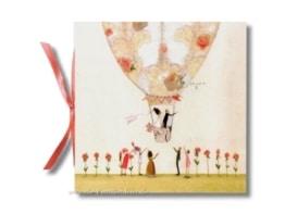 Geschenkbuch: Brautpaar im Ballon für Hochzeiten - 1