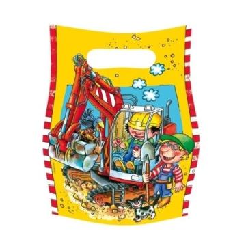 Geschenketüte: Partytüte, Bauarbeiter, 6er-Pack - 1
