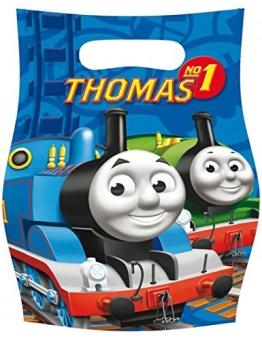 Geschenktüte: Party-Tüte mit der Lokomotive Thomas, 6er-Pack - 1