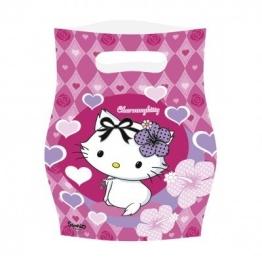 Geschenktüten: Party-Tüten, Charmmy Kitty mit Herzen, 6er-Pack - 1