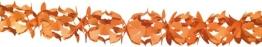 Girlande, 16 cm Durchmesser, 4 m Länge, orange - 1