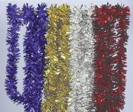 Girlande: Foliengirlande, rot, 3 m Länge, 7 cm Durchmesser - 1