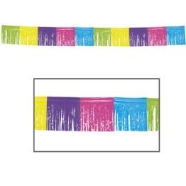 Girlande: Fransen-Girlande, PVC, bunt, wetterfest, 30 cm Höhe, 10 m Länge - 1