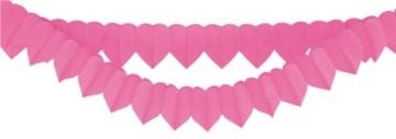 Girlande: Herzgirlande, pink, 2 m - 1