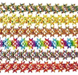 Girlande: Papiergirlande, sortiert, 16 cm Durchmesser, 4 m Länge - 1