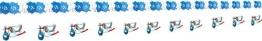 Girlande: Papiergirlande, Storch, hellblaue Taufgirlande, 4 m - 1