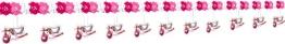 Girlande: Papiergirlande, Storch, rosa Taufgirlande, 4 m - 1