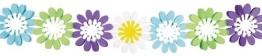 Girlande, Sommermotiv Daisy mit Blumen, 3 m - 1