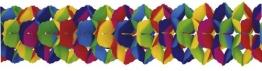 Girlande, vielfarbig, 25 cm Durchmesser, 10 m Länge - 1