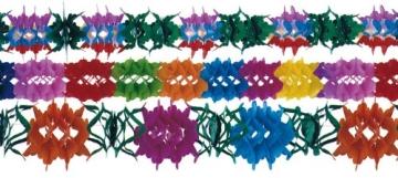 Girlanden-Set: Blumengirlanden, 12 – 17 cm Durchmesser, 4 m Länge, 3er-Pack - 1
