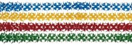 Girlanden-Set: Papiergirlanden, 19 cm Durchmesser, 4 m Länge, 4er-Pack - 1