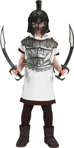 Gladiator-Kostüm: Hemd, lang, Kindergröße - 1