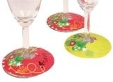 Glasmarker: Papierdeko für Gläser, Glücksmotive, 36 Stück - 1