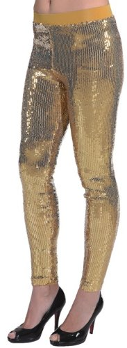 goldene Paillettenleggings - 1